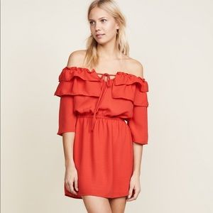 BB Dakota Off shoulder frill dress